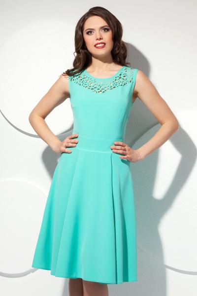 Платье с ажурной вставкой П-419/1